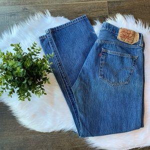 Levi's 501 men's straight leg button jeans